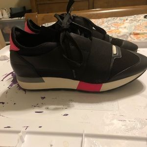 Pink and black Balenciaga race runners